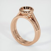 18K Rose Gold Ring Setting - JS885R18