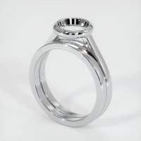 14K White Gold Ring Setting - JS885W14