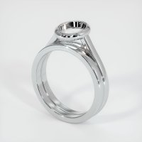14K White Gold Ring Setting - JS886W14