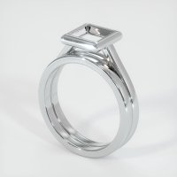 14K White Gold Ring Setting - JS887W14