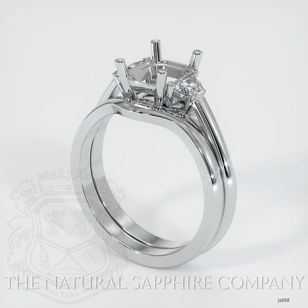 4 Prong Multi Stone Wedding Setting JS888 Image