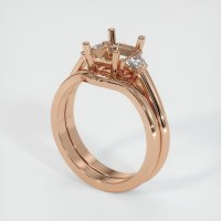 18K Rose Gold Ring Setting - JS888R18