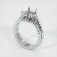 14K White Gold Ring Setting - JS888W14