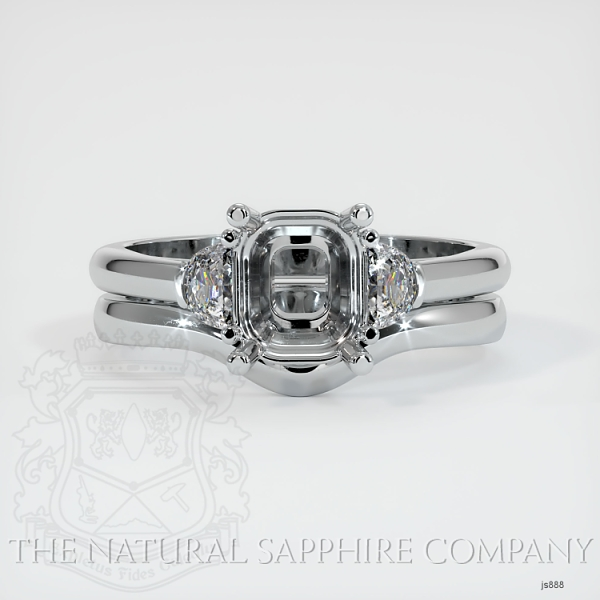4 Prong Multi Stone Wedding Setting JS888 Image 2
