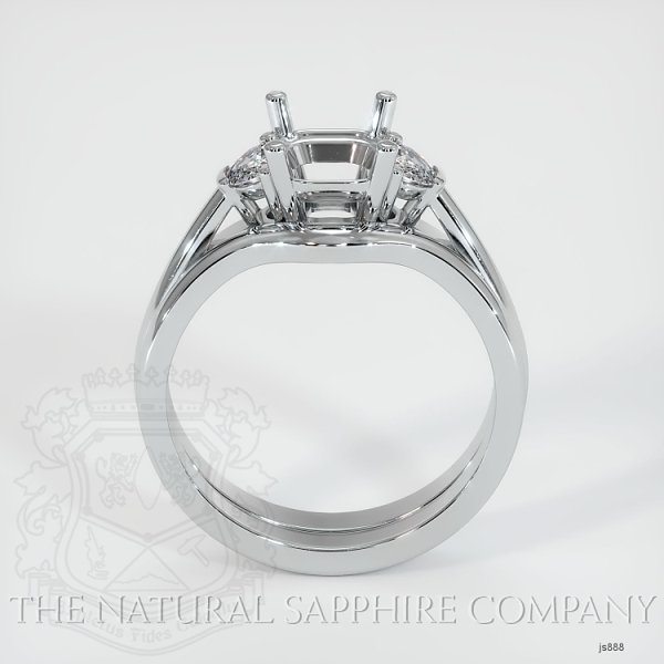 4 Prong Multi Stone Wedding Setting JS888 Image 4