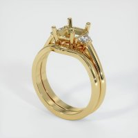 14K Yellow Gold Ring Setting - JS888Y14