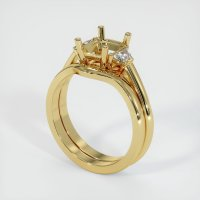 18K Yellow Gold Ring Setting - JS888Y18