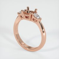 14K Rose Gold Ring Setting - JS89R14