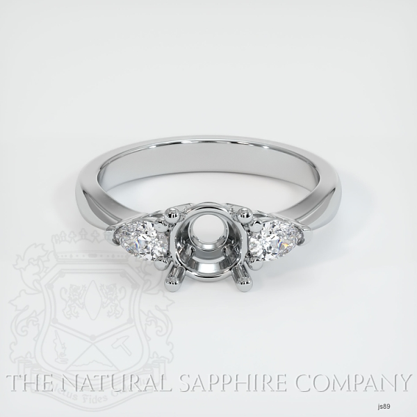 4 Prong Three Stone Ring - Pear Shape Diamonds JS89 Image 2