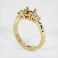 14K Yellow Gold Ring Setting - JS89Y14