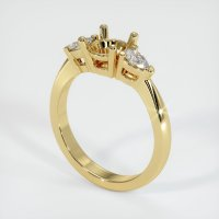 18K Yellow Gold Ring Setting - JS89Y18