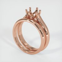 14K Rose Gold Ring Setting - JS893R14