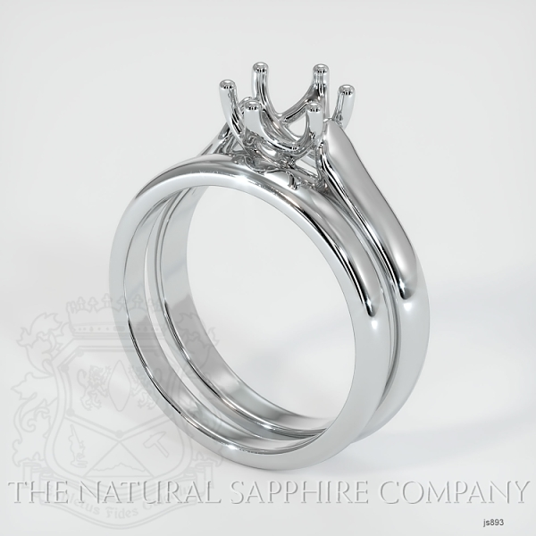 6 Prong Trellis Solitaire Wedding Set JS893 Image