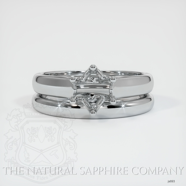 6 Prong Trellis Solitaire Wedding Set JS893 Image 2