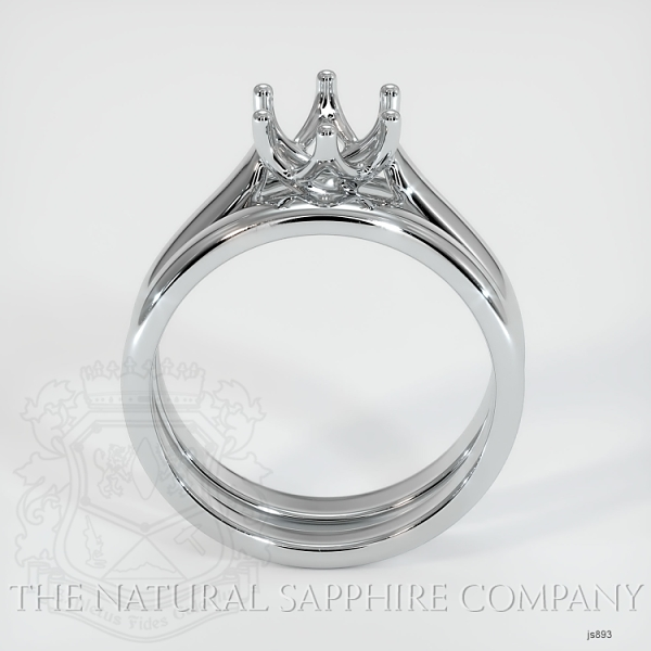 6 Prong Trellis Solitaire Wedding Set JS893 Image 4