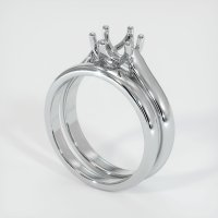 18K White Gold Ring Setting - JS893W18