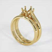 14K Yellow Gold Ring Setting - JS893Y14