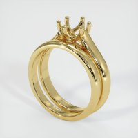 18K Yellow Gold Ring Setting - JS893Y18