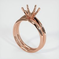 14K Rose Gold Ring Setting - JS894R14