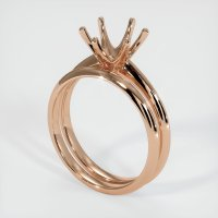 18K Rose Gold Ring Setting - JS894R18