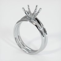 14K White Gold Ring Setting - JS894W14