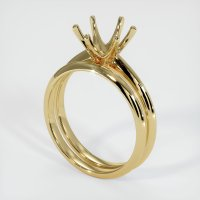 14K Yellow Gold Ring Setting - JS894Y14
