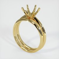 18K Yellow Gold Ring Setting - JS894Y18