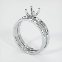14K White Gold Ring Setting - JS899W14