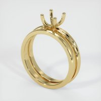 14K Yellow Gold Ring Setting - JS899Y14