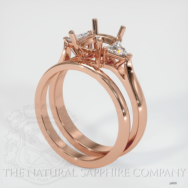 4 Prong Multi Stone Wedding Setting JS900 Image