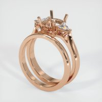 18K Rose Gold Ring Setting - JS900R18