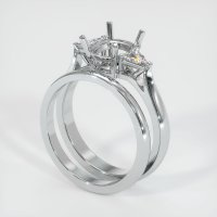 14K White Gold Ring Setting - JS900W14