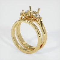 14K Yellow Gold Ring Setting - JS900Y14