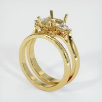 18K Yellow Gold Ring Setting - JS900Y18