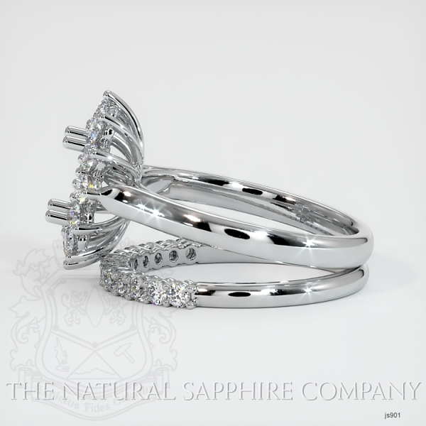 4 Prong Halo Wedding Set JS901 Image 3