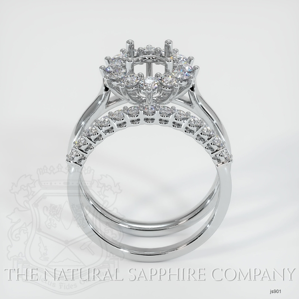 4 Prong Halo Wedding Set JS901 Image 4