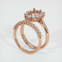 18K Rose Gold Ring Setting - JS901R18