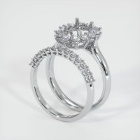 14K White Gold Ring Setting - JS901W14