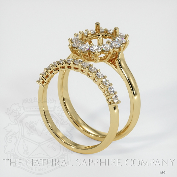 4 Prong Halo Wedding Set JS901 Image