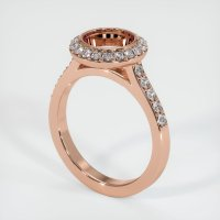 14K Rose Gold Pave Diamond Ring Setting - JS903R14