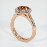 18K Rose Gold Pave Diamond Ring Setting - JS903R18