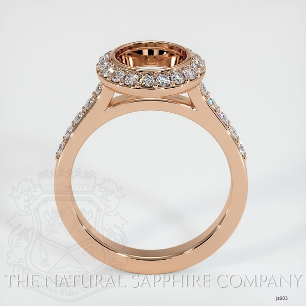 Bezel Set Pave Diamond Halo Ring Setting JS903 Image 4