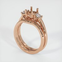 18K Rose Gold Ring Setting - JS904R18