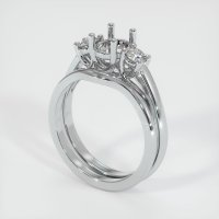 14K White Gold Ring Setting - JS904W14