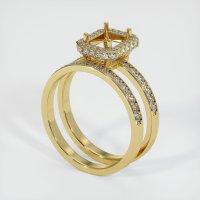 18K Yellow Gold Pave Diamond Ring Setting - JS906Y18