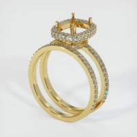 18K Yellow Gold Pave Diamond Ring Setting - JS907Y18