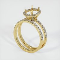 18K Yellow Gold Pave Diamond Ring Setting - JS908Y18