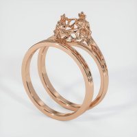 18K Rose Gold Ring Setting - JS909R18