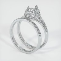 18K White Gold Ring Setting - JS909W18