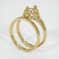 14K Yellow Gold Ring Setting - JS909Y14